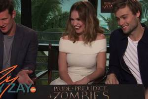 Pride & Prejudice & Zombies Interview - Lily James, Matt Smith & Douglas Booth - ZayZay.Com