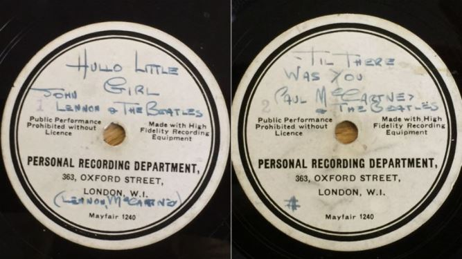 beatles record going on auction