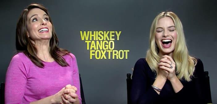 WHISKEY TANGO FOXTROT - Watch Tina Fey & Margot Robbie turn the tables on journalists!