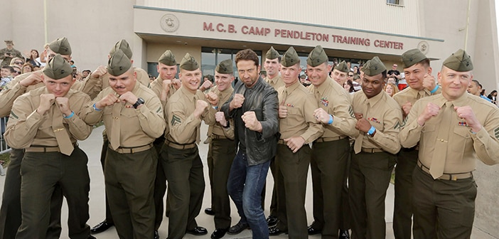 """""""London Has Fallen"""" Cast Visits Military Various  Bases Nationwide 6"""