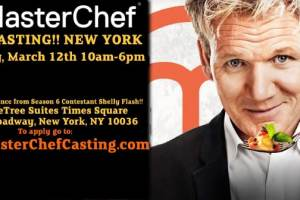 This Saturday, March 12 -- Masterchef Season Eight Open Casting Calls