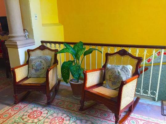 THE WORLD'S MOST COMFORTABLE CHAIRS, WHERE MILDRED AND I SPENT MANY A HAPPY MORNING - by Diana Bruk