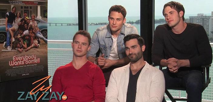 EVERYBODY WANTS SOME - Interview with Blake Jenner, Ryan Guzman, Will Britain, & Tyler Hoechlin - ZayZay.Com
