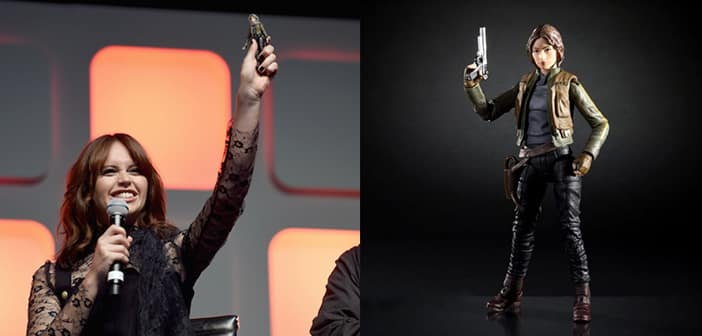 Felicity Jones Presented With Her very Own 'Star Wars: Rogue One' Action Figure 1
