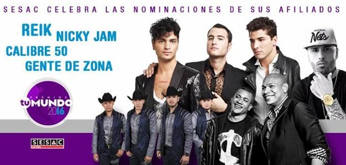 SESAC Latina to Celebrate its Nominees at Telemundo's 2016 Premios Tu Mundo
