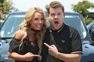 See This Sneak Peak James Corden's Carpool Karaoke Drive With Britney Spears