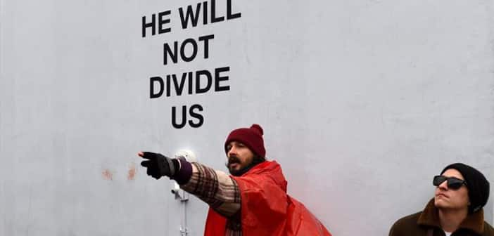 "Shia LaBeouf Arrested For ""Assaulting"" Trump Supporter At His NYC Anti-Trump Protest"