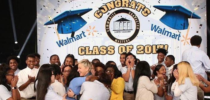 Ellen DeGeneres Gifts entire Senior Class With College Scholarships
