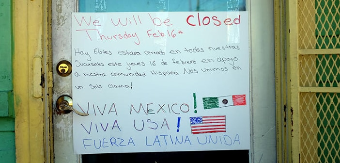 Restaurants All Over The  U.S. Closed Their Doors Today For 'Day Without Immigrants'