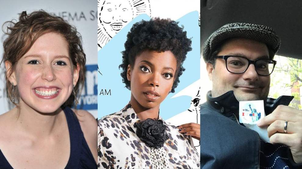 Bobby Moynihan and Vanessa Bayer and Sasheer Zamata