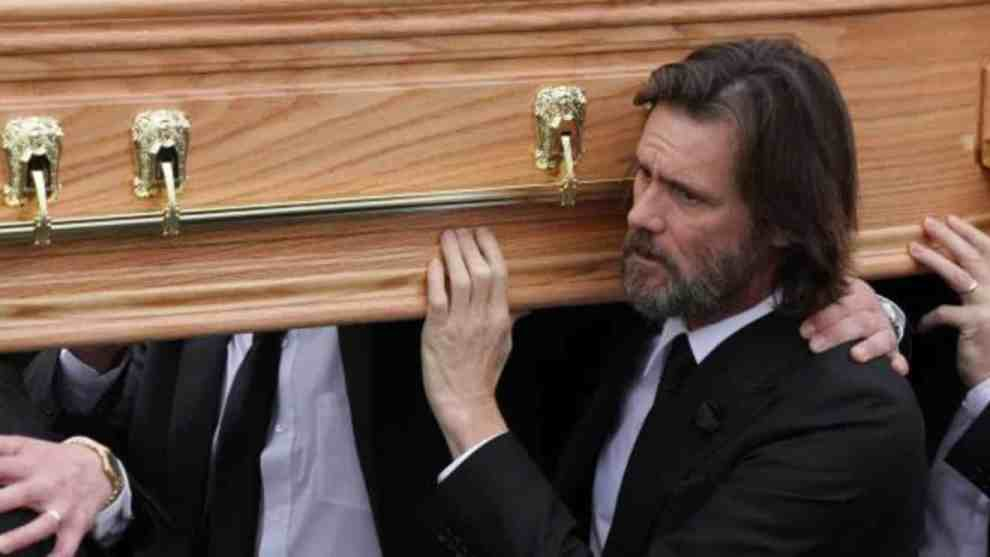 JIM CARREY @ CATHRIONA WHITE FUNERAL