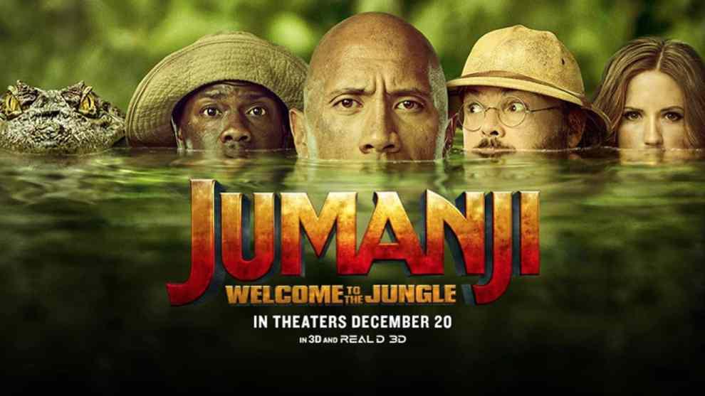 Dwayne Johnson, Jack Black, Kevin Hart, and Karen Gillan star in the new movie