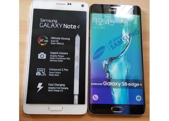 Phablet Galaxy S6 Edge tem dimensões similares ao do Note 4 (Foto: Reprodução/All About Samsung)