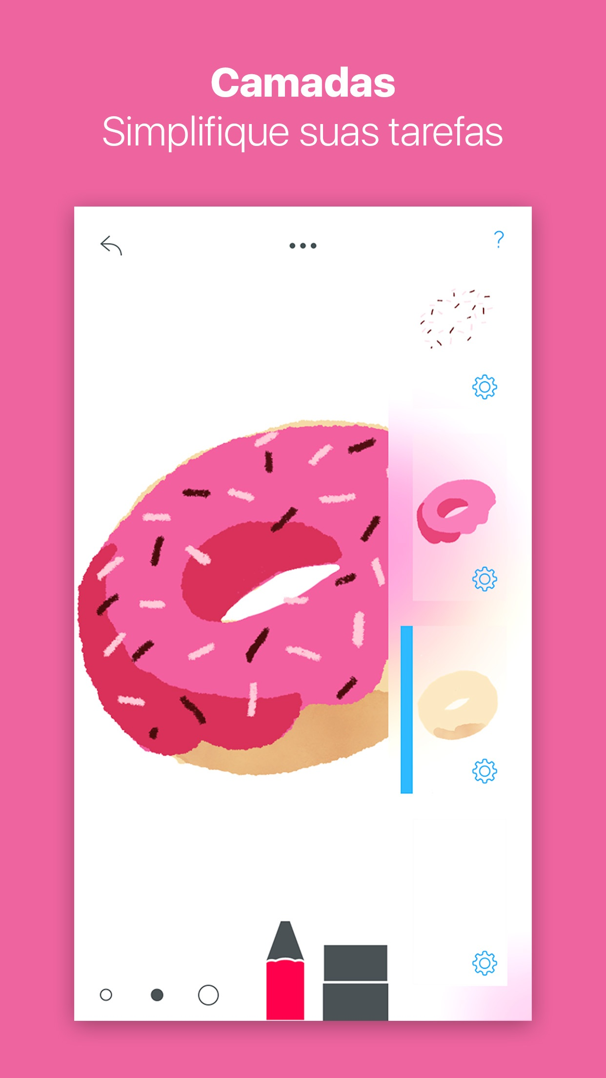 Screenshot do app Tayasui Sketches Pro