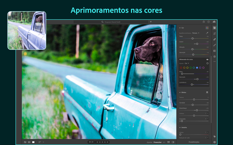 Screenshot do app Adobe Lightroom