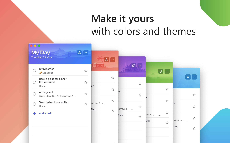 Screenshot do app Microsoft To-Do