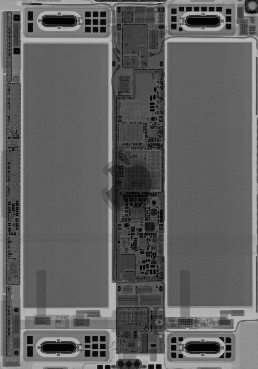Wallpaper das entranhas do iPad Pro, iFixit