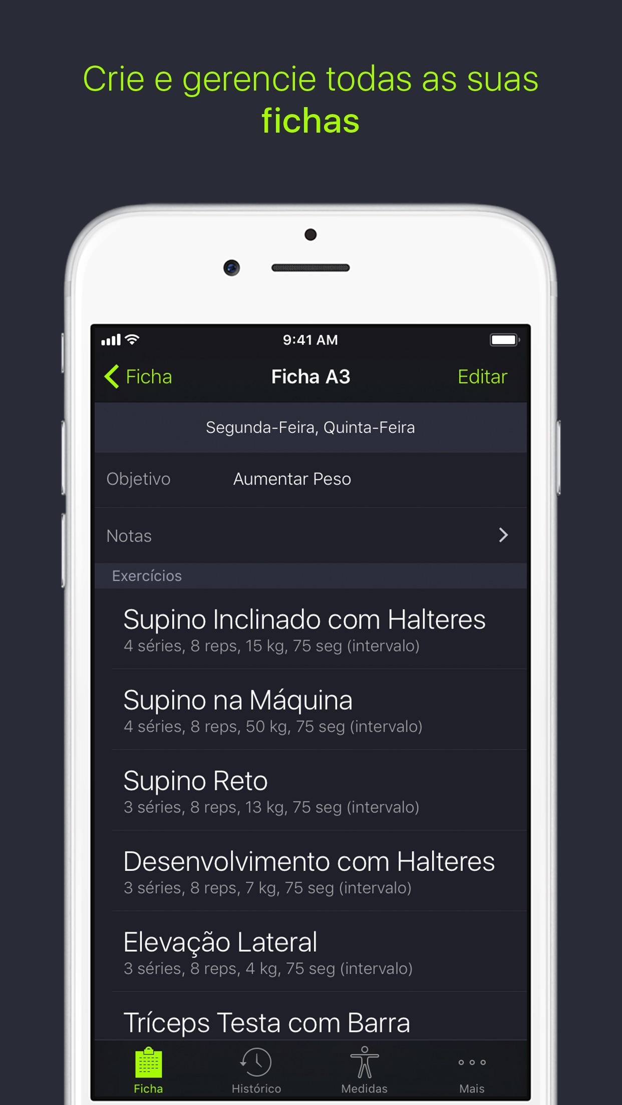 Screenshot do app SmartGym: Gerencie Seu Treino