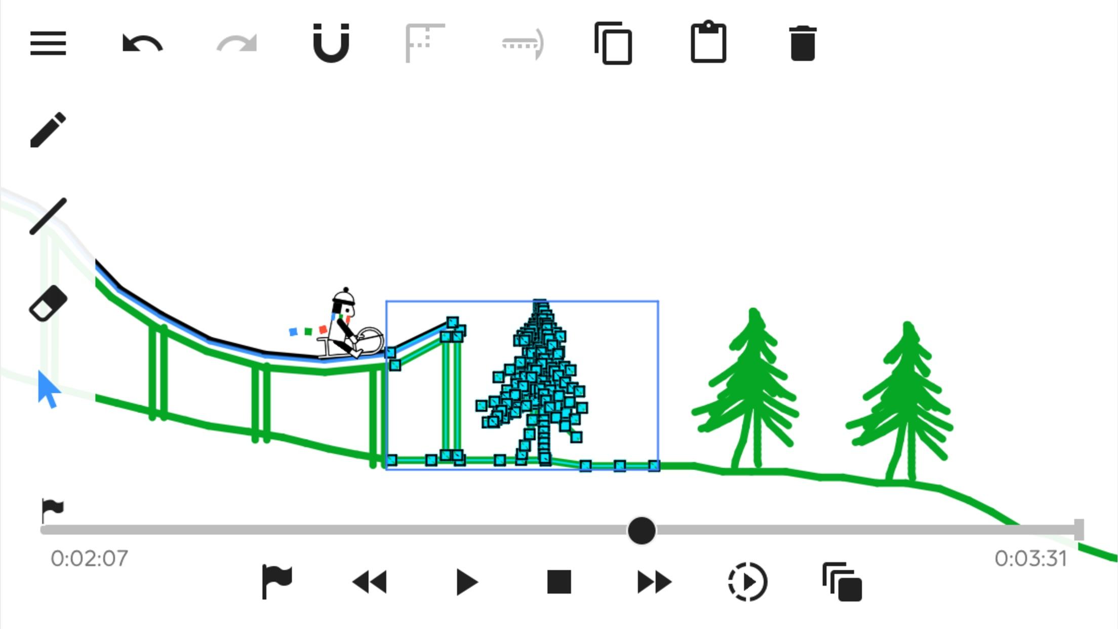 Screenshot do app Line Rider Classic