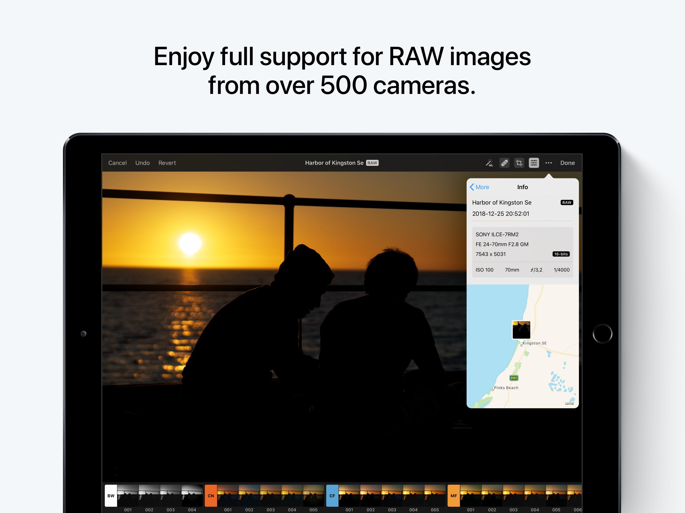Screenshot do app Pixelmator Photo