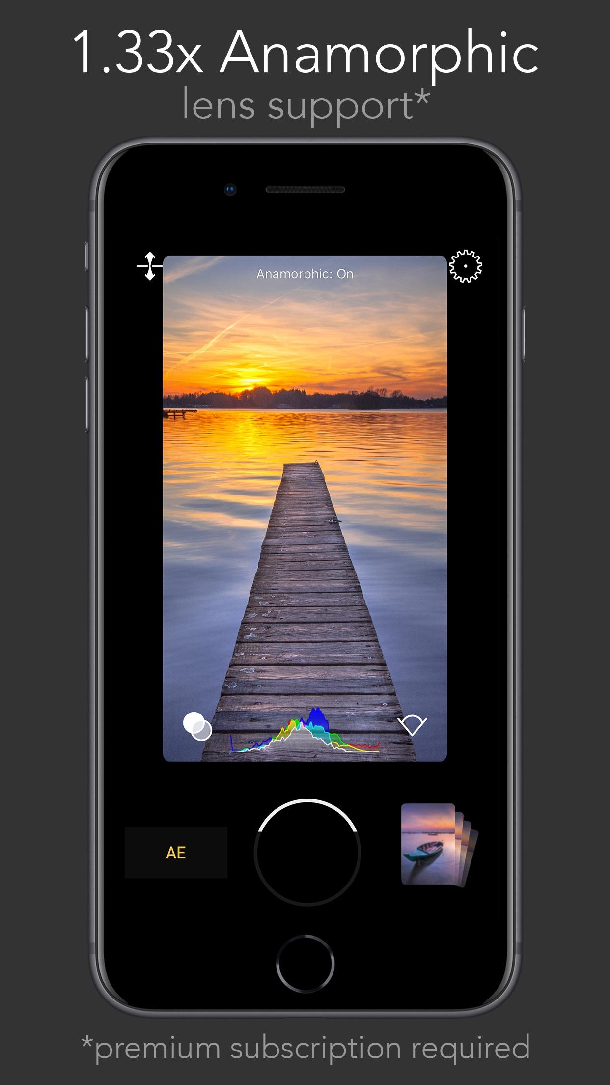 Screenshot do app FiLMiC Firstlight - Photo App