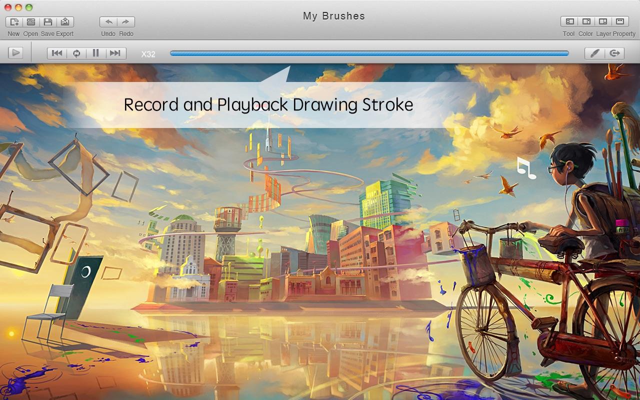 Screenshot do app Mybrushes-Sketch,Paint,Design