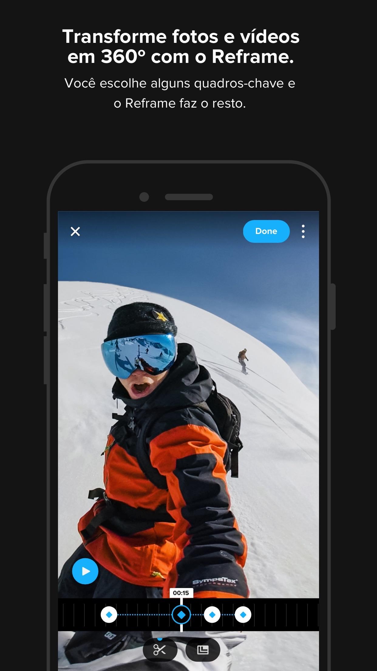 Screenshot do app GoPro