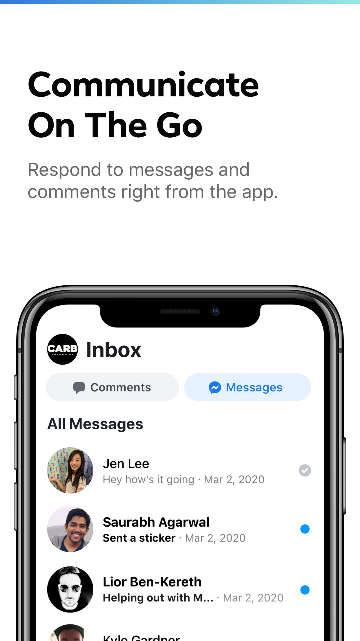 Screenshot do app Creator Studio from Facebook