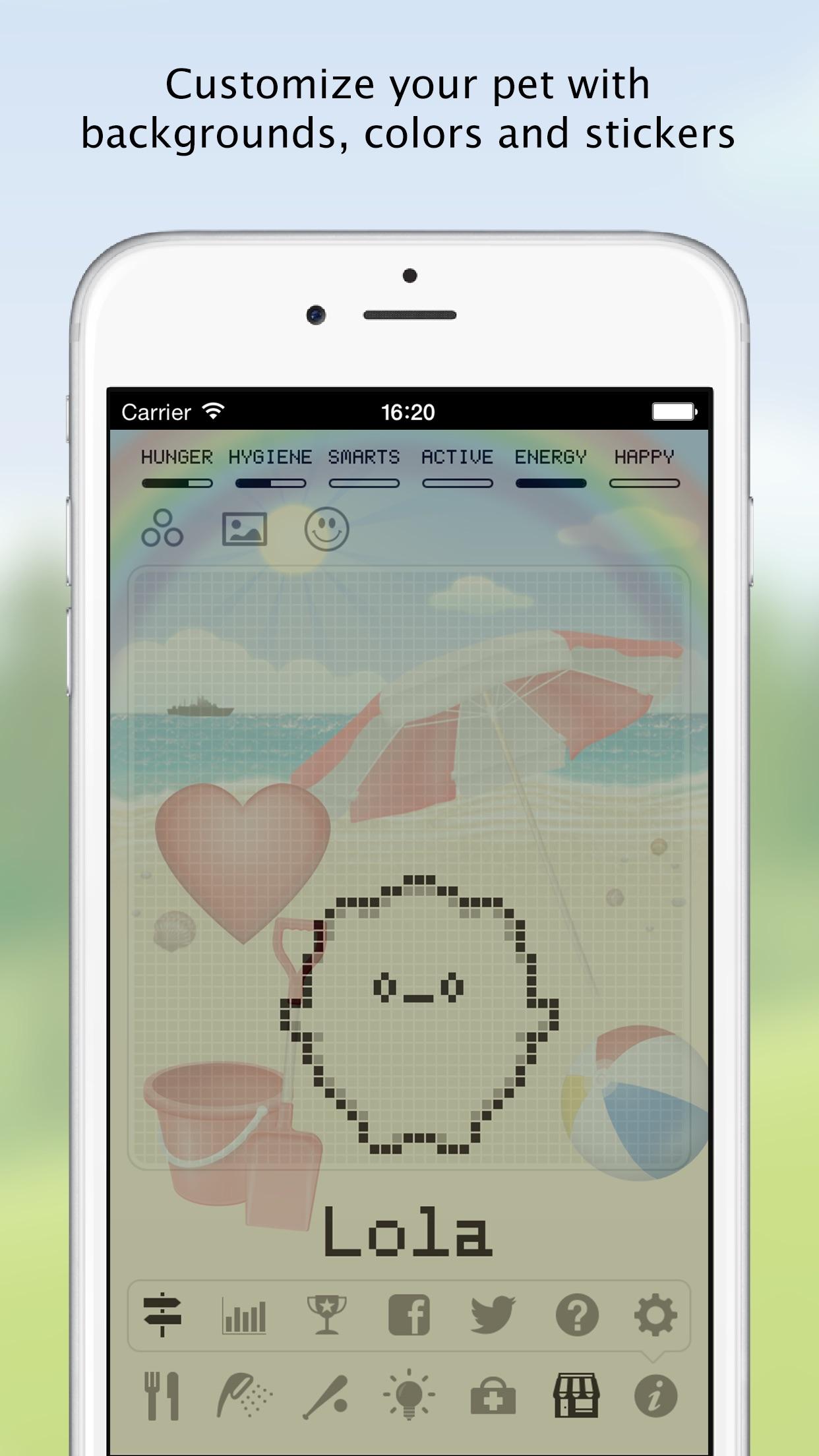 Screenshot do app Hatchi - A retro virtual pet