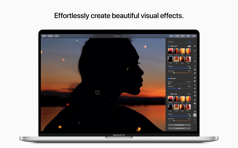 Screenshot do app Pixelmator Pro