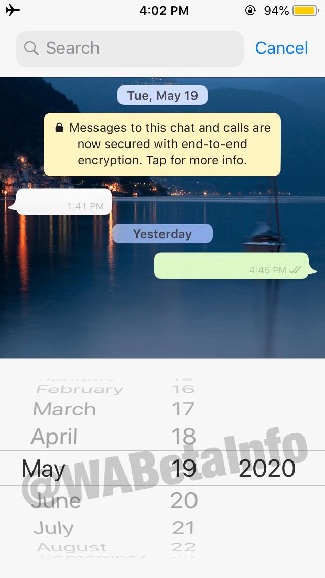 Busca no WhatsApp