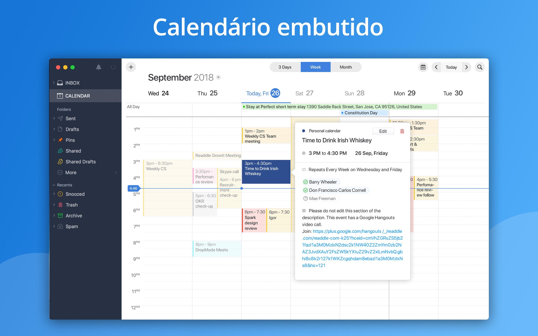 Screenshot do app Spark - Email App da Readdle