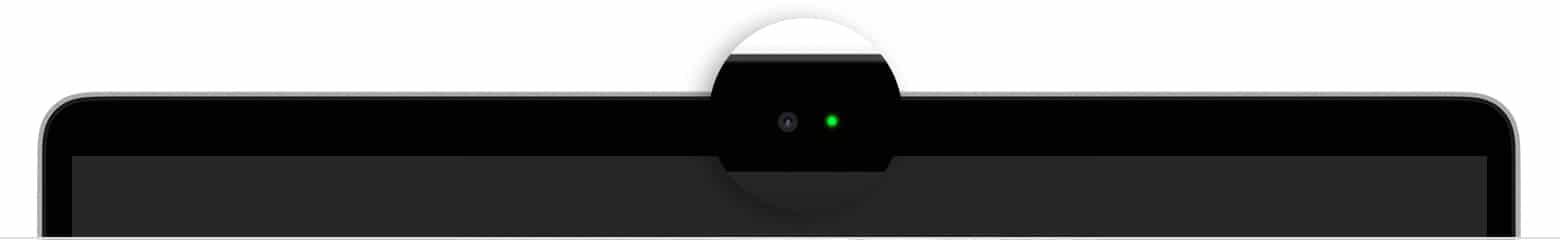 Luz indicadora da câmera do MacBook Air