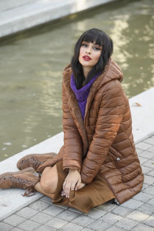 Zazuela jacket camel διπλής όψης