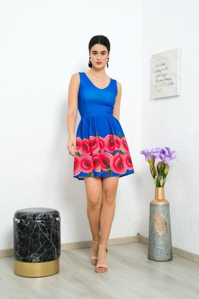 Φόρεμα φλοράλ - ελεκτρίκ