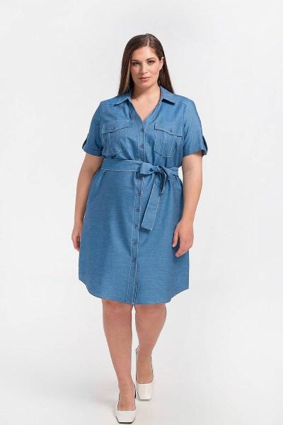 Φόρεμα plus size σεμιζιέ