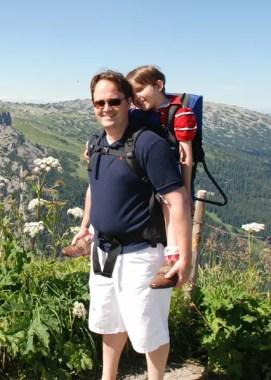 Herr Klüttermann mit Kind
