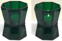 04 - Teelicht oktogonal grün