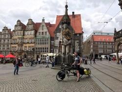 Geschafft: Angekommen in Bremen