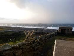 Aufgewühlte Nordsee bei Tungenes Fyr