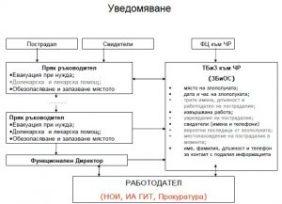 Полезна схема за уведомяване при трудова злополука