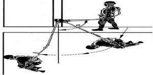 Работа на височина удар тип махало