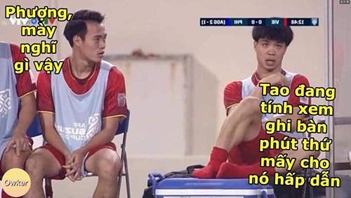 Ảnh chế các cầu thủ Việt Nam tràn ngập sau trận thắng Philippines