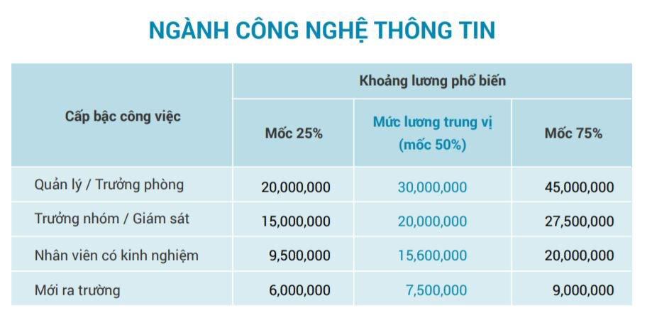 CNTT là một trong Top 5 ngành nghề trả lương cao