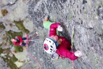 """La grimpeuse polonaise Aleksandra Taistra est tombée amoureuse du granit des """"Tatra Mountains"""", Mnich en Pologne."""