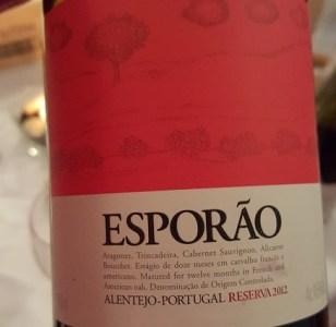 Esporao reserva tinto 2012