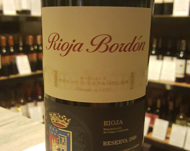 Rioja Bordón Reserva 2009