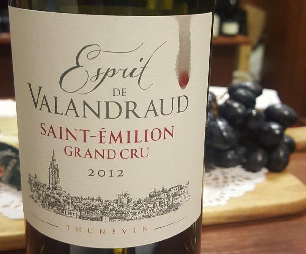 Jean-Lux Thunevin-Esprit de Valandraud Saint Émilion Grand Cru 2012