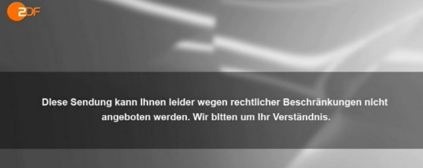 ZDF error message