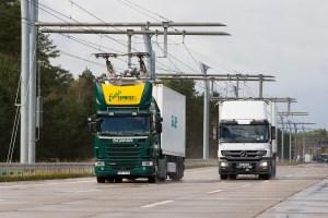 Siemens zatím testuje kamiony pod trolejemi na bývalé sovětské základně na severu Německa, foto: Siemens